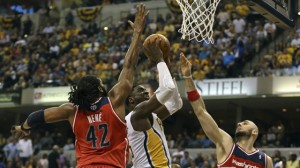 Watch Roy Hibbert score 28 points and collect 9 boards in the Pacers' 86-82 win against the Wizards.