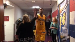 Go inside the Pacers' locker room after clinching a berth in the Eastern Conference Finals.